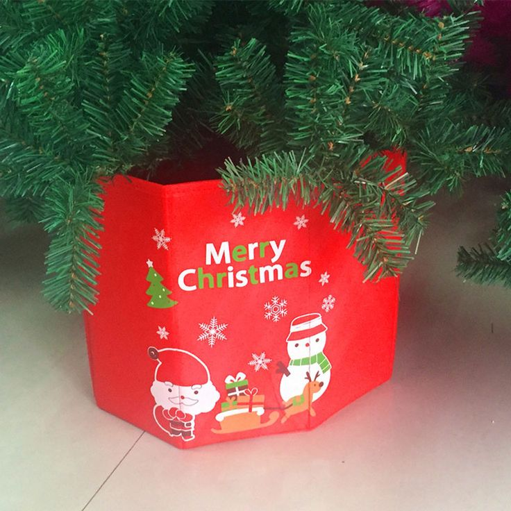 Christmas Tree Holder Decoration Christmas Tree Box Container Home Party Decor
