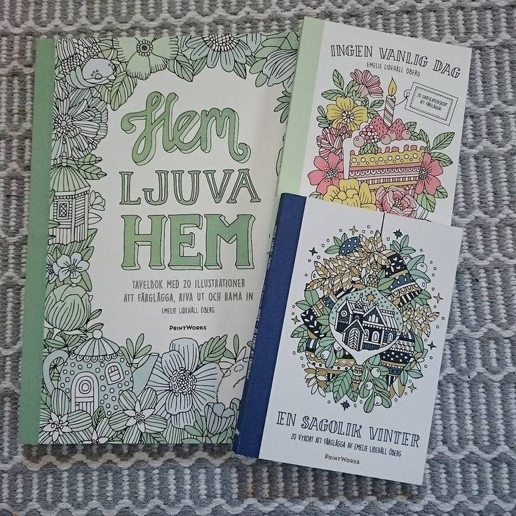 Lycka är att komma hem till ett paket med nya målarböcker!  Speciellt när det är böcker från Emelie Lidehäll Öberg. Vinterboken ska Sötfröken få, så att jag kan få ha min för mig själv! ;-) Ser fram emot en härlig eftermiddag /kväll tillsammans med Sötfröken i pysselhörnan. <3 #emelielidehällöberg #hemljuvahemmålarbok #ensagolikvinter #ingenvanligdagmålarbok