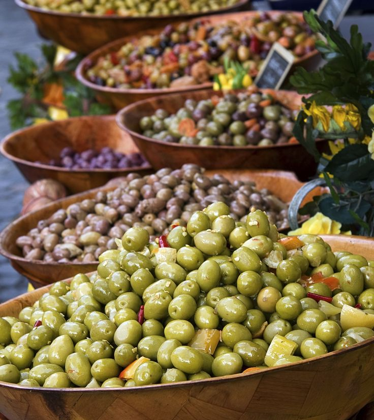 Varieties of Greek olives