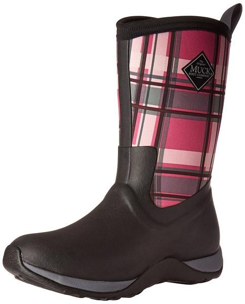 977658b23f3 Muck Boot Women's Arctic Weekend Mid Snow Boot, Black/Pink Plaid, 10 ...