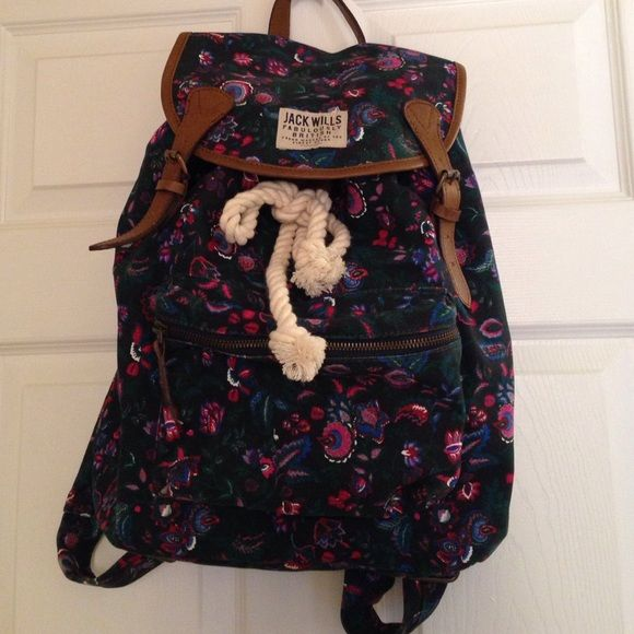 ⭐️Sale⭐️ Jack Wills Paisley Patterned Backpack Jack Wills Paisley Patterned Backpack. Used once. Jack Wills Bags Backpacks