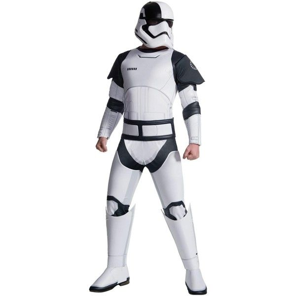 Star Wars Episode VIII - The Last Jedi Deluxe Adult Executioner... ($80) ❤ liked on Polyvore featuring costumes, halloween costumes, womens deluxe halloween costumes, ladies halloween costumes, white costumes, ladies star wars costumes and adult women halloween costumes