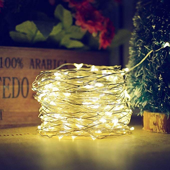 Aveylum Solar String Lights Warm White 8 Modes Silver Wire Fairy Light 65 6ft 200 Leds Waterproof Decoration For Indoor Home Showcase Outdoor Garden
