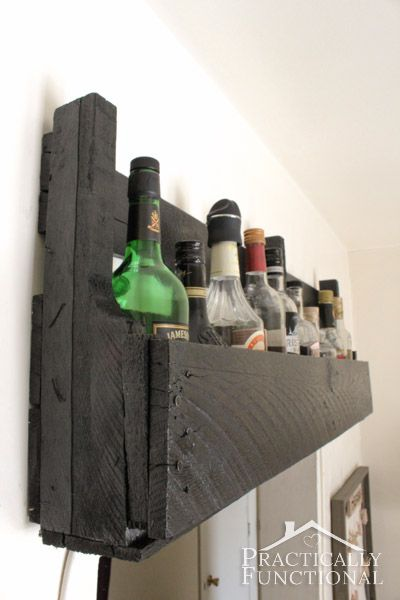 Kitchen Tour: Turn a pallet into a shelf to create extra storage space