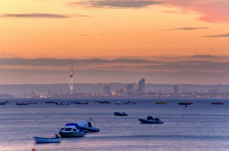 """THOUGHT I WOULD SHOW YOU WHAT IT LOOKS LIKE WHERE I LIVE..."" I RESIDE FIVE MINUTES WALK FROM THE TOWER... ISN'T IT A LOVELY PHOTOGRAPH? J.L. Thomas Author/Poet — at View across the Solent from Seaview, Isle Of Wight, England."