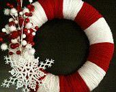 Couronne de canne en bonbon Noël guirlande - guirlande de Noël - hiver