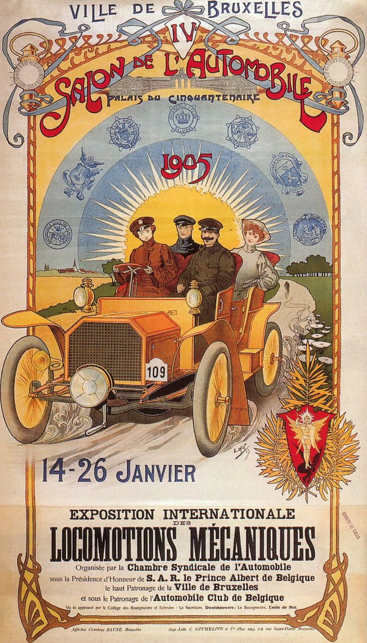 Pin by LP on Save The Date in 2019  Salon auto Vintage poster Bruxelles