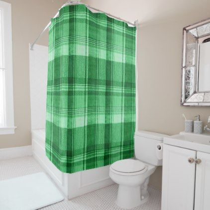An Irish Plaid Shower Curtain - shower gifts diy customize creative