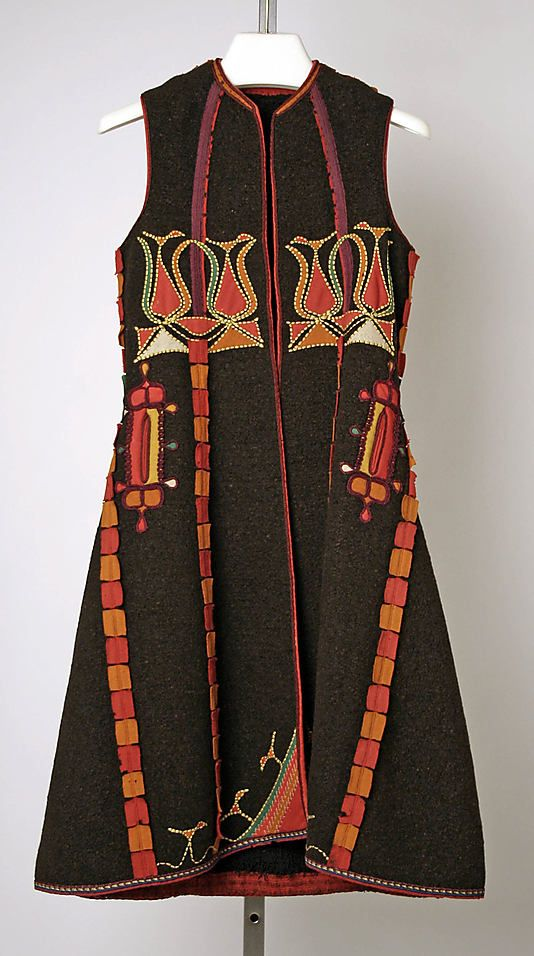 Coat Date: late 19th century  Culture: Serbian (probably)  Medium: wool  Dimensions: Length at CB: 39 in. (99.1 cm)