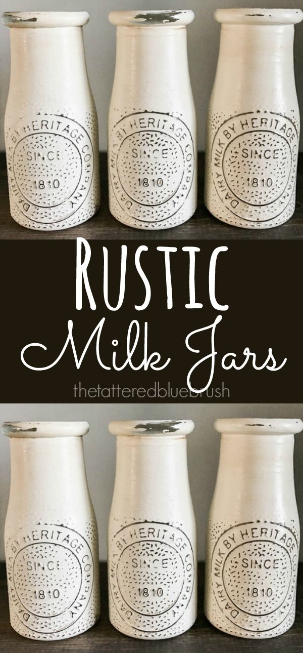 I love these little Milk Jars! They make perfect little centerpieces! Fill them with fresh or dried flowers, or use as part of any seasonal decor by decorating around them. They are super versatile and so cute!  Milk Jar, White Milk Jar, Rustic Decor, Farmhouse Decor, Mason Jar Decor, Kitchen Decor, White Jars, Wedding Decor, Painted Milk Jars #Sponsored