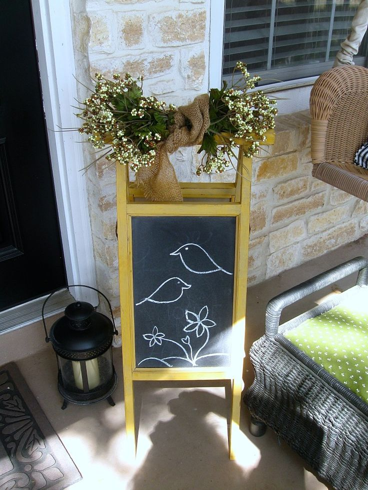 """After taking all the Valentine decor down, the porch needed a little """"lift""""! Nothing too major……. …….just enough to show signs of spring are in the air!"""