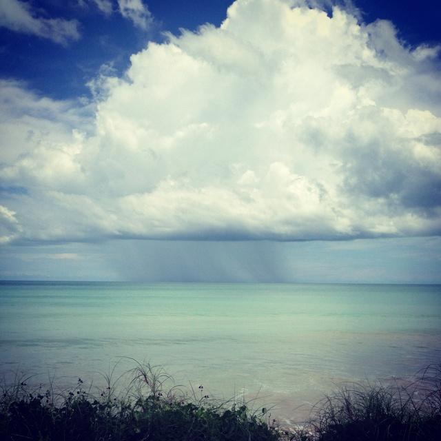 Wet season rains over Cable beach, Broome