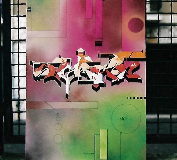 Sclero su tela. 2005. #uniposca #vernice #tela #canvas #writing #graffiti