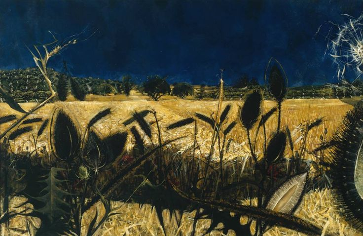 Alan Reynolds, 'Summer: Young September's Cornfield' 1954. Unusual and fantatsic use of contrast and colour here. Love it.