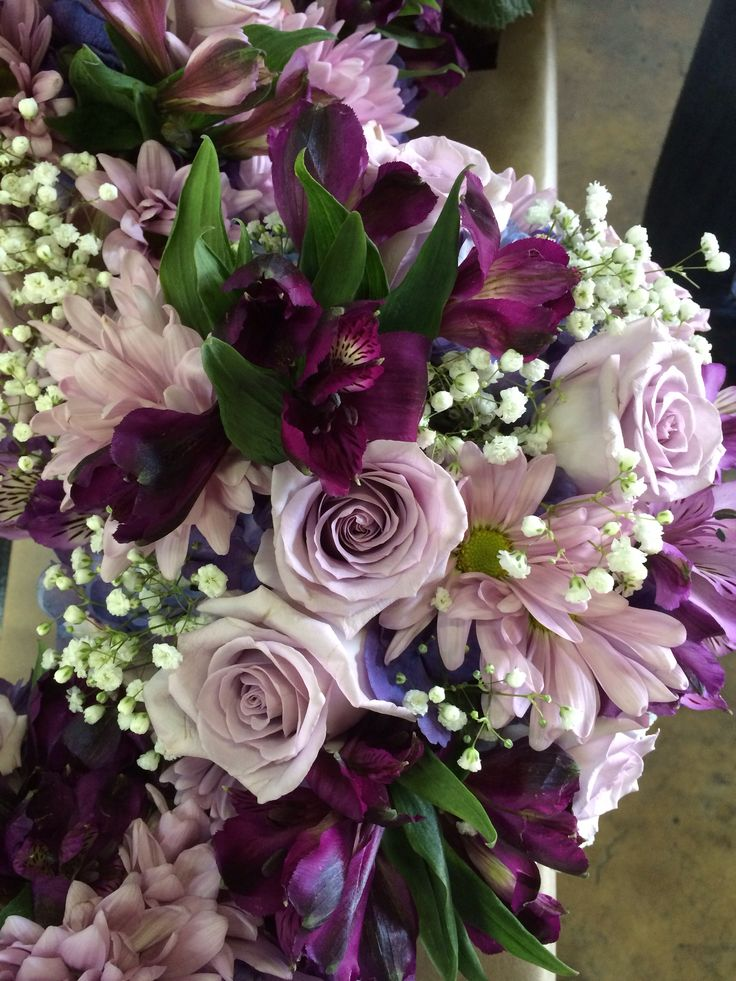 purple alstroemeria bouquet - Google Search
