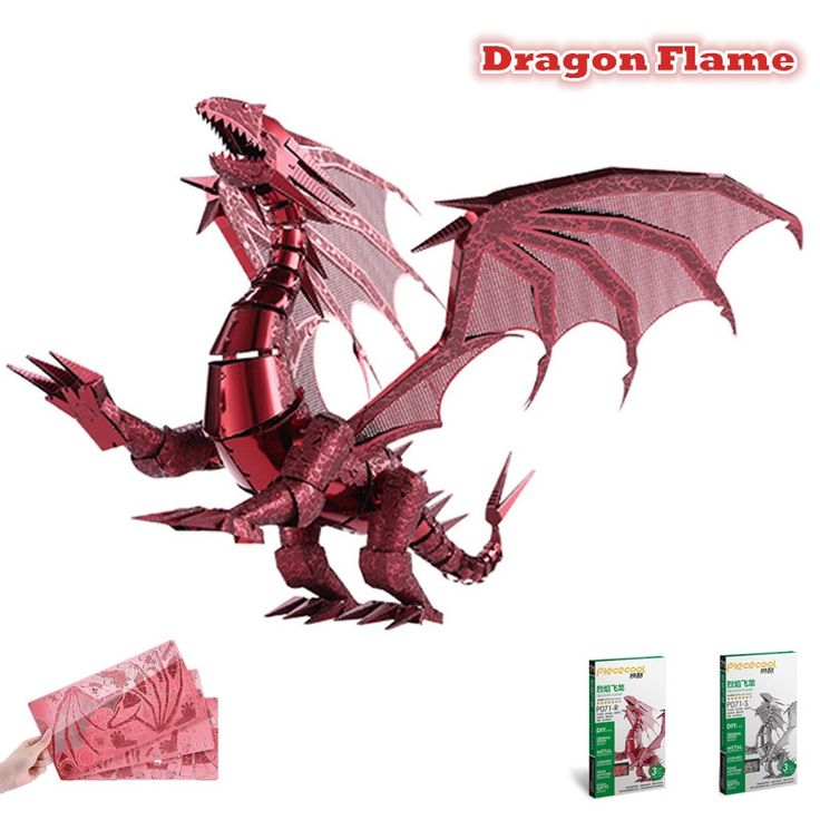 16.09$  Watch here - http://alidmg.shopchina.info/1/go.php?t=32749940175 - Piececool 2016 Newest 3D Metal Puzzles of Dragon Flame Red & Silver Color 3D Assemble Model Kits DIY Funny Gifts for Kids Toys  #shopstyle