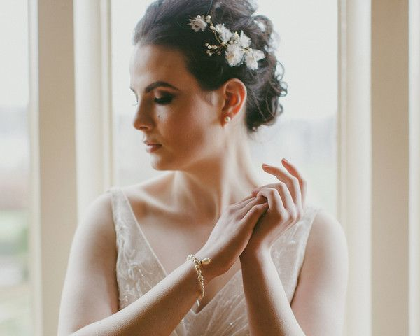 Handmade Lace, and Tulle Headpiece, Poppy Gold