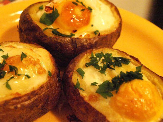 Oua coapte in cartof - www.Foodstory.ro