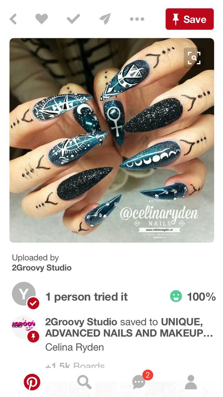 214 besten Geometric Nail Art Bilder auf Pinterest | Geometrische ...