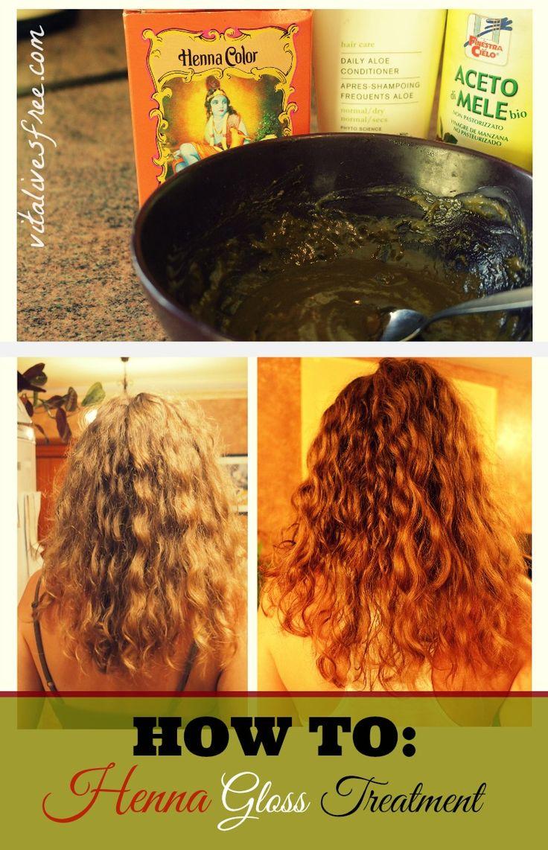 Henna Gloss Treatment Fo Soft And Shiny Hair #henna #hennagloss  | vitalivesfree.com