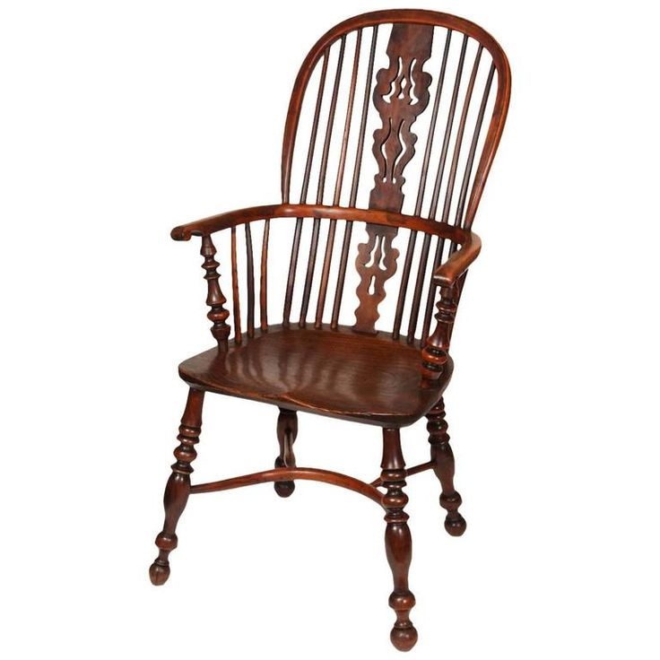 An English Windsor Armchair with Crinoline Stretcher, circa 1825 1