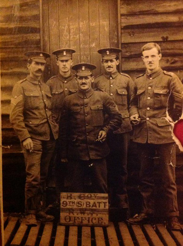 Morris, William 'Billy' Sgt 9 RWF 2nd Left joined up 01.09.14 wounded at Loos and Somme
