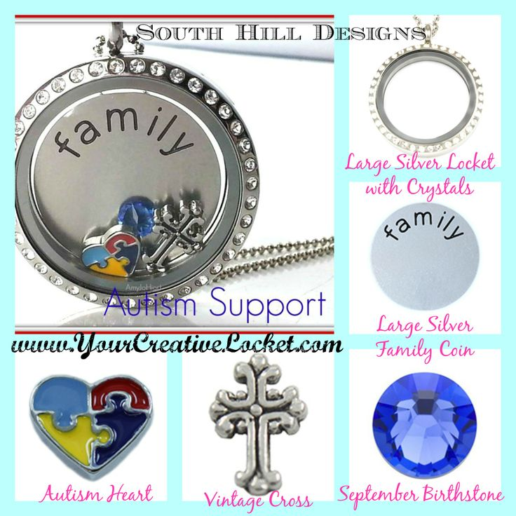 Locket for a cause! This locket can be a fundraiser opportunity- Ask me how! #autism #southilldesigns #yourcreativelocket #jewelry