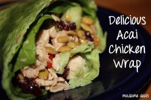 Low Calorie Chicken Wrap with Acai Dressing #recipe