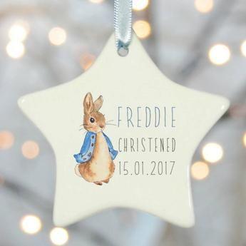 Christening Gift 2 - Ceramic Star Rabbit