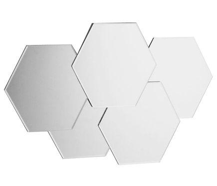 Espejo decorativo DESIGN HEXA SILVER