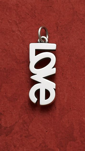 """""""Love"""" Charm - Put your true feelings on display with a charm that expresses what's inside your heart, in a design that evokes warm memories and unending commitment. #JamesAvery #Love #Charms"""