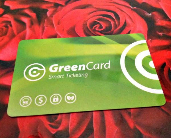 A GreenCard, for using a public transport bus in #Hobart. Photo and article for think-tasmania.com #Metro #Tasmania