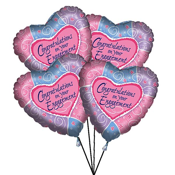 Wish a special couple all the best for their engagement with that extra sparkle by sending this stylish helium-filled #balloon - ready for a surprise! . Online #Balloon #Delivery to #UK