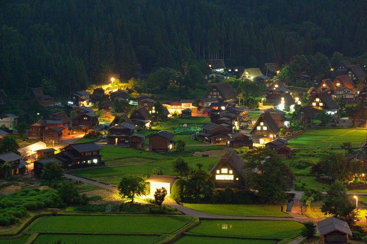 """""""Shirakawa-go in the night"""" by MIYAMOTO Y, via 500px.Photos, Shirakawa Village, Favorite Places, Shirakawago Gifu, Beautiful Places, Village Japan, Gifu Japan, Dreams Spaces, Small Village"""