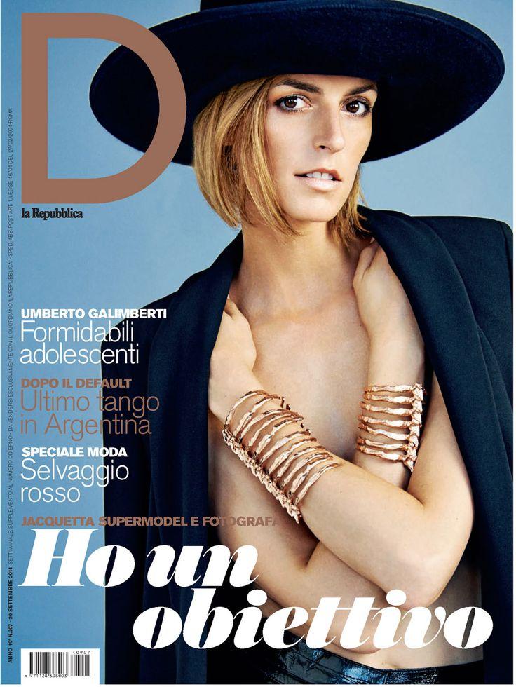 The cover of D la Repubblica: Jacquetta Wheeler in #krizia