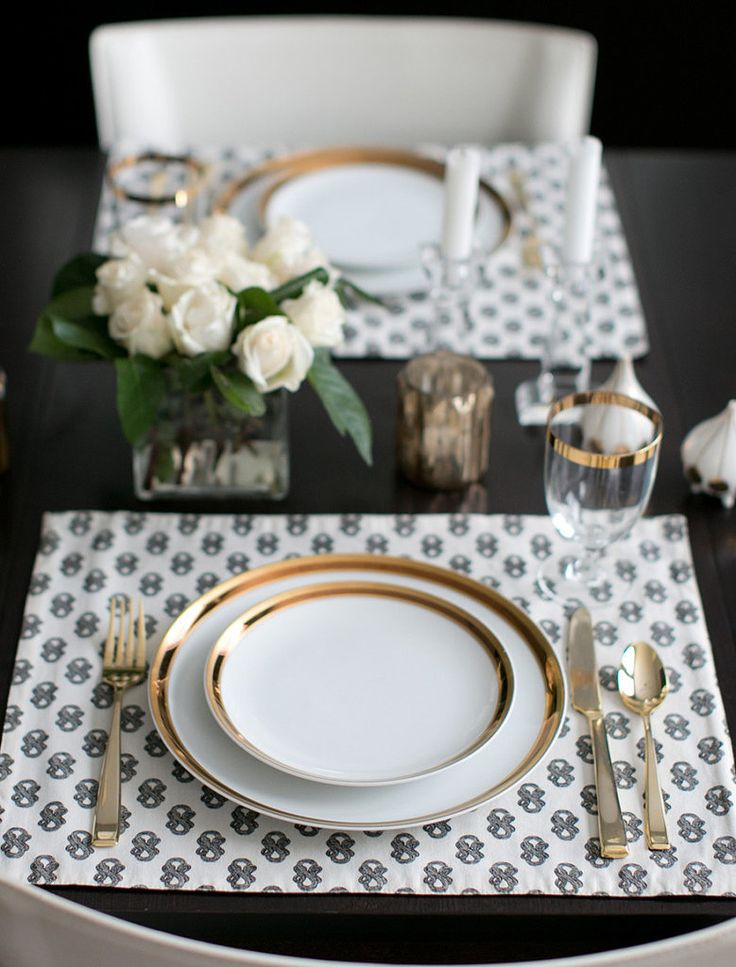 Special occasion dinnerware and flatware