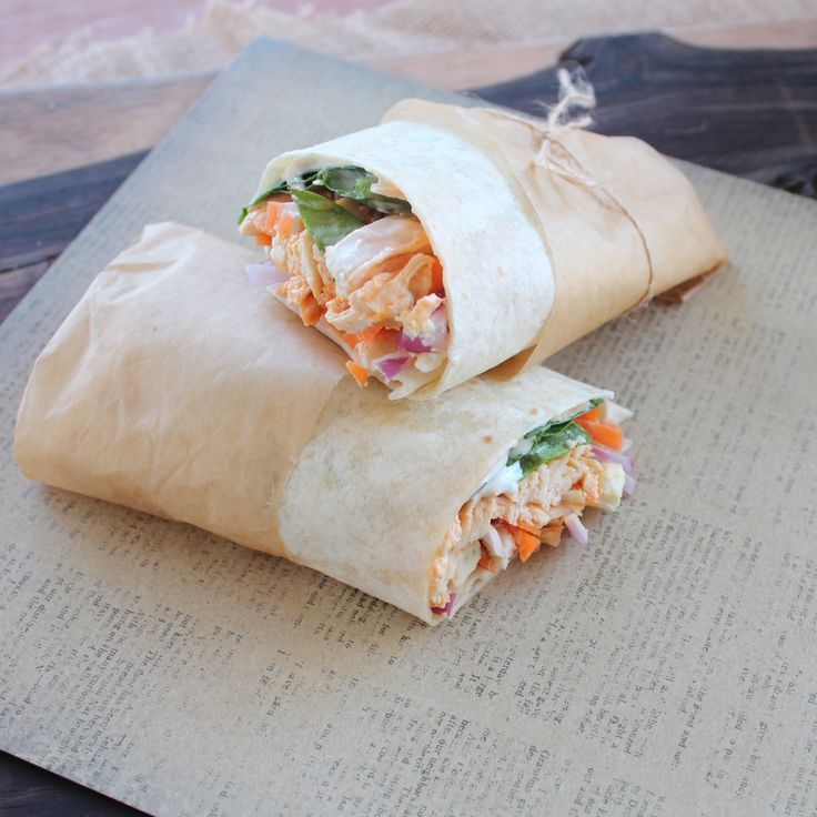 Simple Buffalo Chicken Wrap