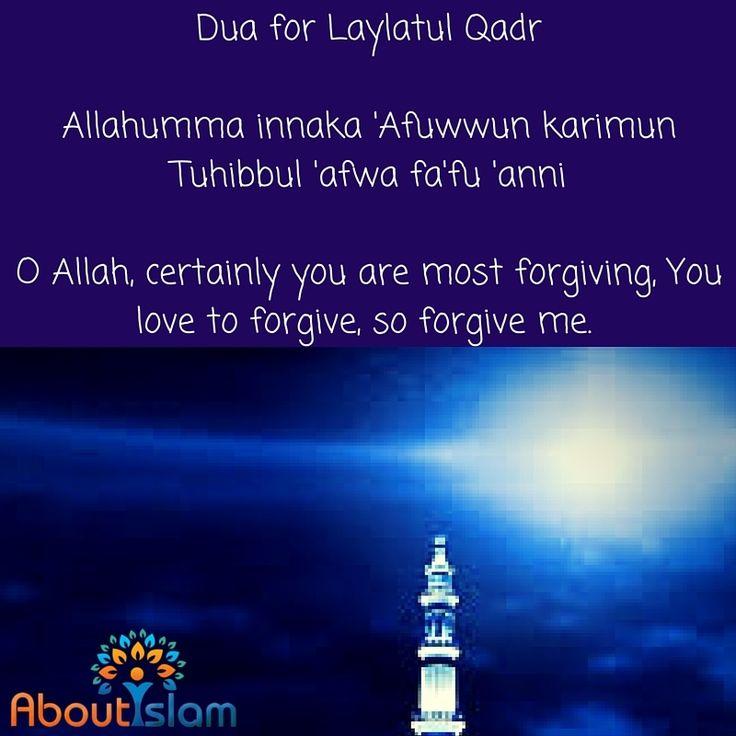 Dua for Laylatul Qadr.
