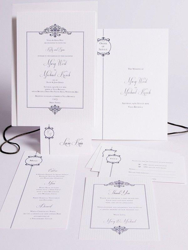 Vienna Collection - Elegant Invitations - Themed Invitations   Red Wax Invitations