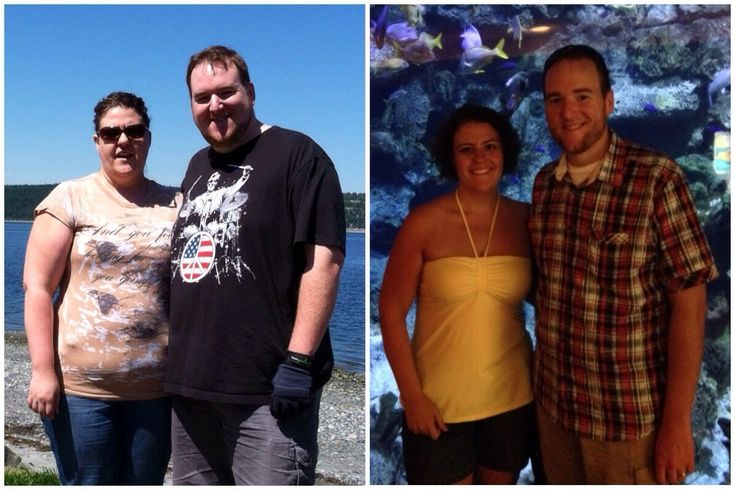 """The wife and I after 6 months of Keto. She's down 78, I'm down 90."""