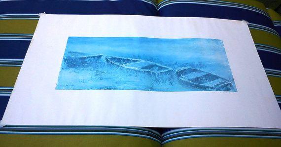 Vance Mitchell Marsh Boat Print/ Vintage Print/ by DameWhoFrames