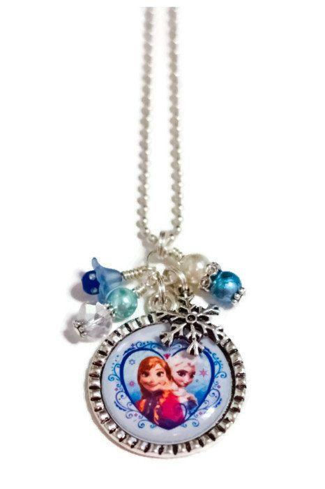 ANNA & ELSA FROZEN necklace by BeyondCuteBoutique on Etsy, $14.99