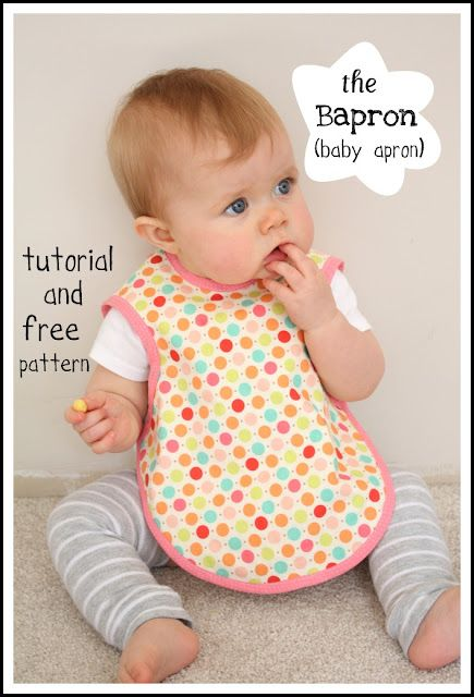"The ""Bapron""... genius!Aprons Pattern, Sewing Projects, Free Pattern, Baby Aprons, Gift Ideas, Baby Bibs, Shower Gift, Baby Gift, Baby Shower"