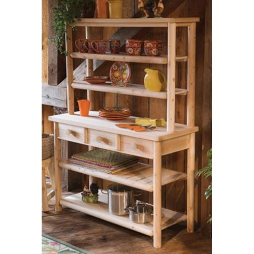 Northern White Cedar Hutch Rustic Natural Furniture Baker S Racks Kitchen