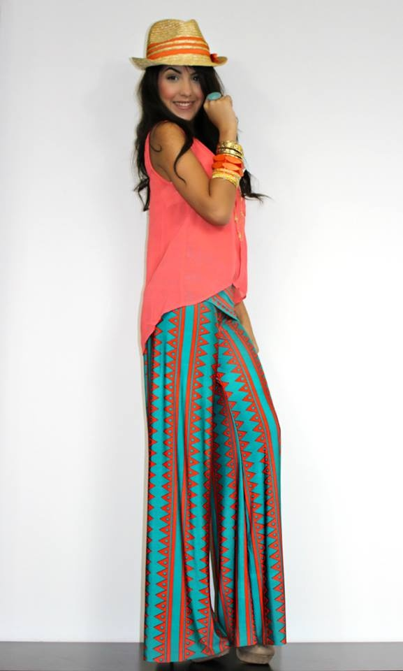 On Trend Geometric Palazzo Pants | Tropic Thunder Collection | Pinterest | Palazzo pants ...