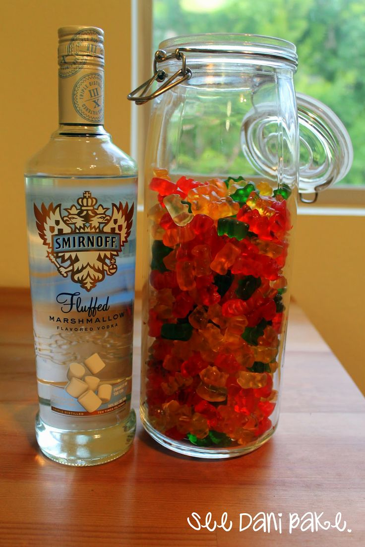 HARIBO Vodka Gummy Bears! I don't know ladies, I might have to make this sometime :)