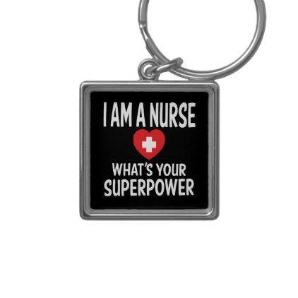 Funny Nurse Quote Black - LPN RN Nursing Nurses Keychain - black gifts unique cool diy customize personalize
