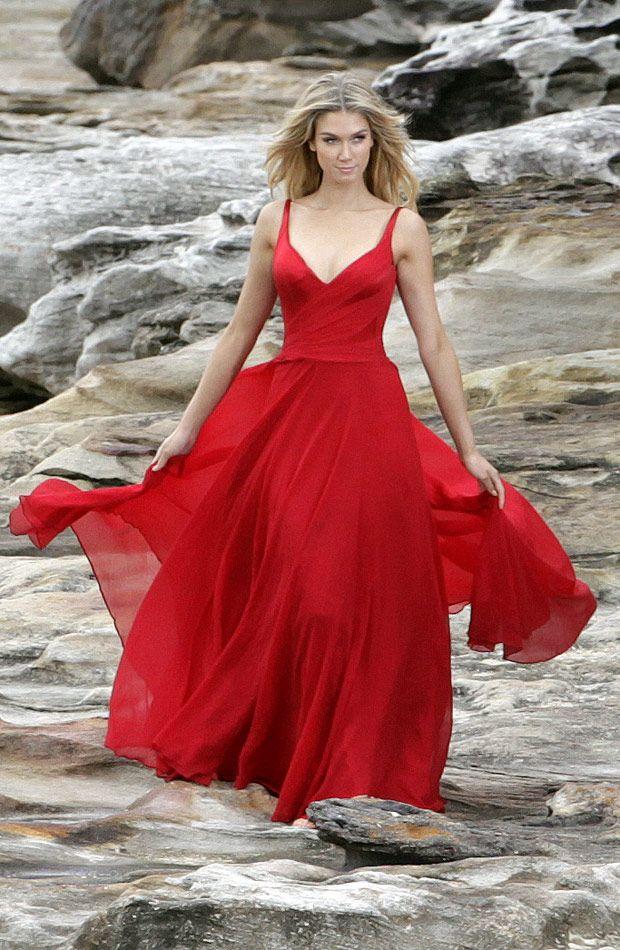 Delta Goodrem - Beautiful in red! #Australia #celebrities #DeltaGoodrem Australian celebrity Delta Goodrem loves http://www.kangafashion.com