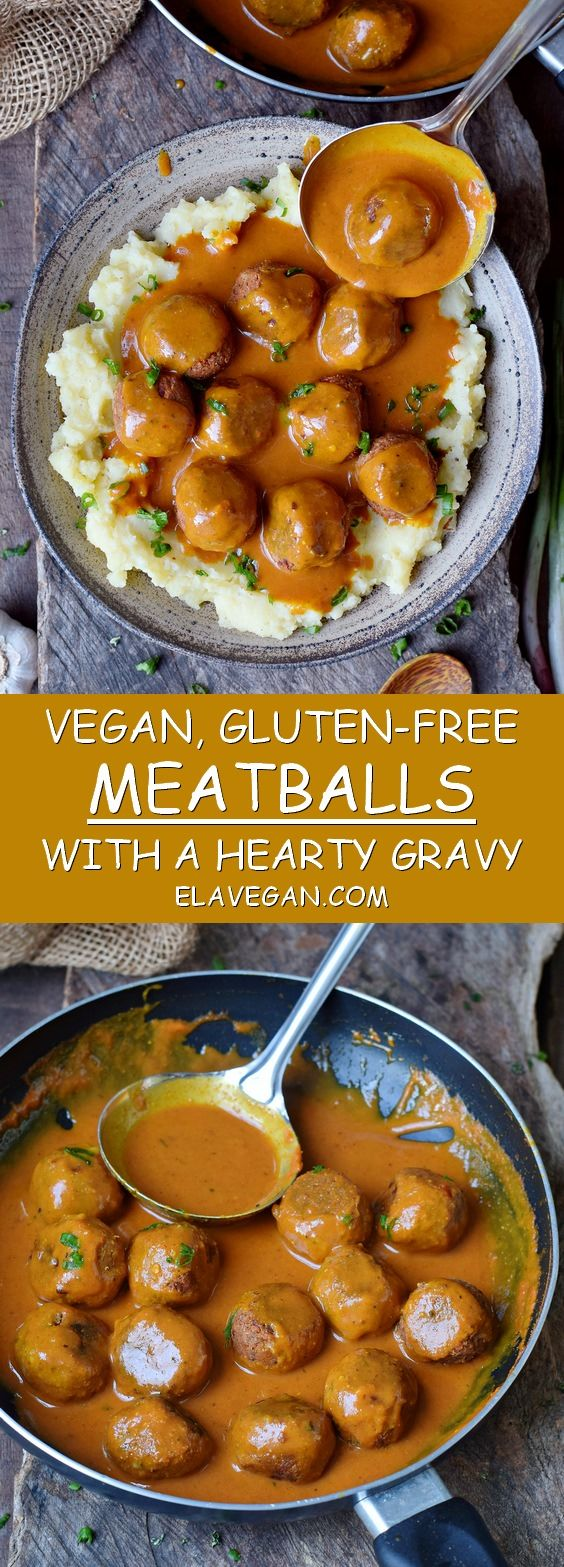 These vegan meatballs with a spicy gravy will make…