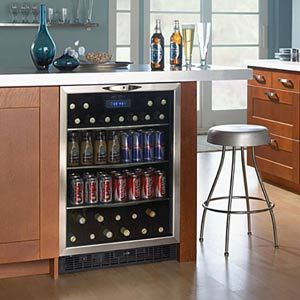 Theater Room Built In Mini Refrigerators